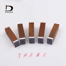 Lower case or Upper case Letter Alphabet Stamp Box Hand Writing Stamp