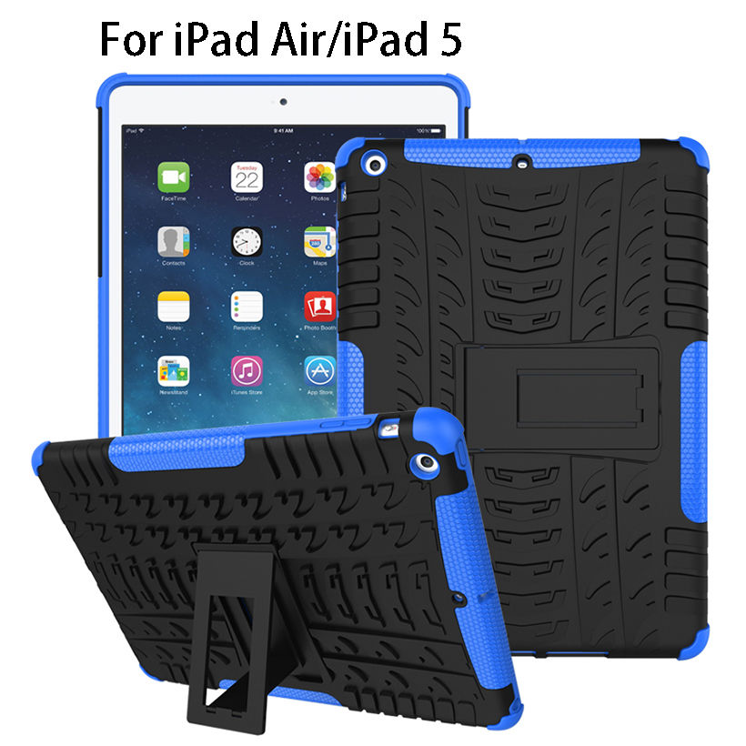 Case For Apple iPad Air iPad 5 Pad Cover Funda Tablet TPU & PC Armor Dazzle Hybrid Kickstand For Apple iPad5 Pouch Bag Cases
