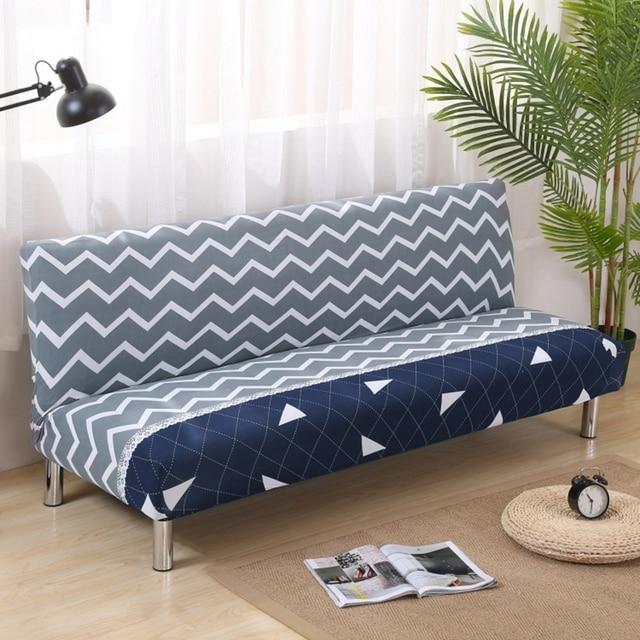 Streifen Sofa Covers Für Wohnzimmer Multi Size Home Decoration Armless Couch  Sofa Hussen Universal Streifen