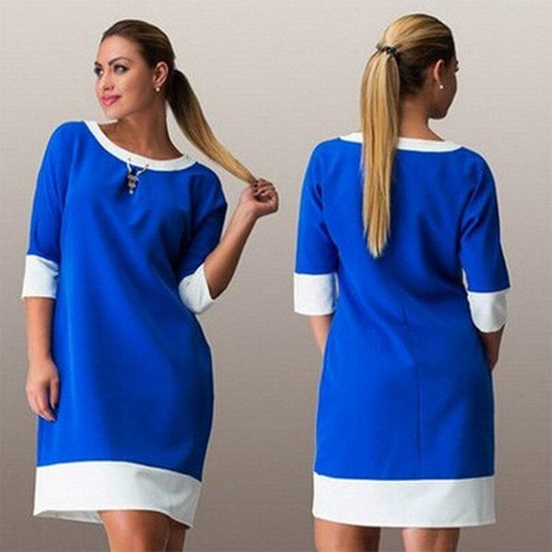 L 6xl large size women dresses elegant design patchwork for Chaise patchwork xl style