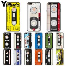 Yinuoda vintage Magnetic tape Cassette DIY Luxury High-end Protector Case for OPPO R11 R11S Plus R17Pro R9S Plus R9 R9S Plus цена и фото