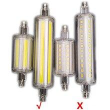 Супер яркий R7S светодиодный светильник 118 мм 78 мм с регулируемой яркостью COB лампа ABS трубка 30 Вт 50 Вт сменный галогенный светильник AC 220 В 230 В R7S точечный светильник