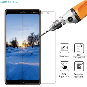 Перейти на Алиэкспресс и купить 9H 2.5D Закаленное стекло для Nokia 6 (2017) 7 3,2 7,1 8 8,1 Plus X5 X6 X7 X71 стеклянная Защитная пленка для экрана