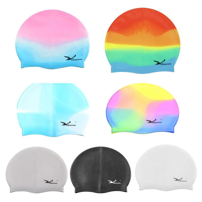 Swimming Cap Waterproof Silicone Swim Pool Hat for Adult Men Women Kids