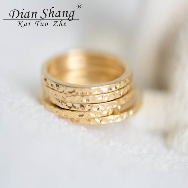 Dianshangkaituozhe Whole Gold Stacking Ring Men Jewelry Knuckle Midi Rings Set Wedding For Women Anillos