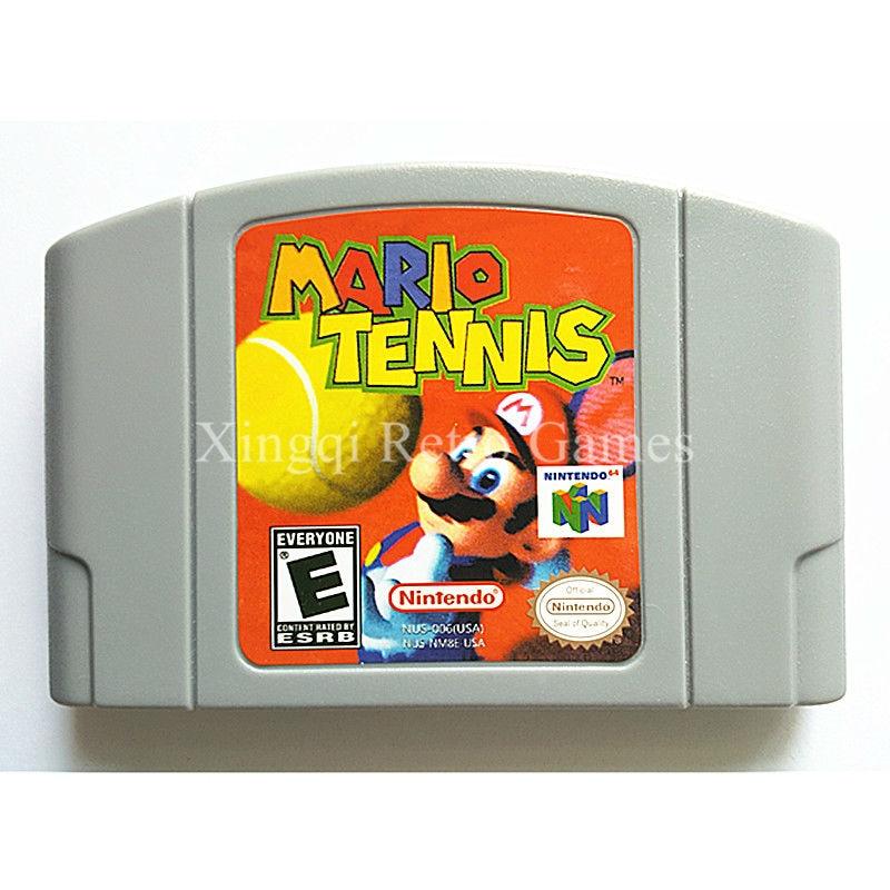 Nintendo N64 Game Mario Tennis Video Game Cartridge Console Card English Language US Version