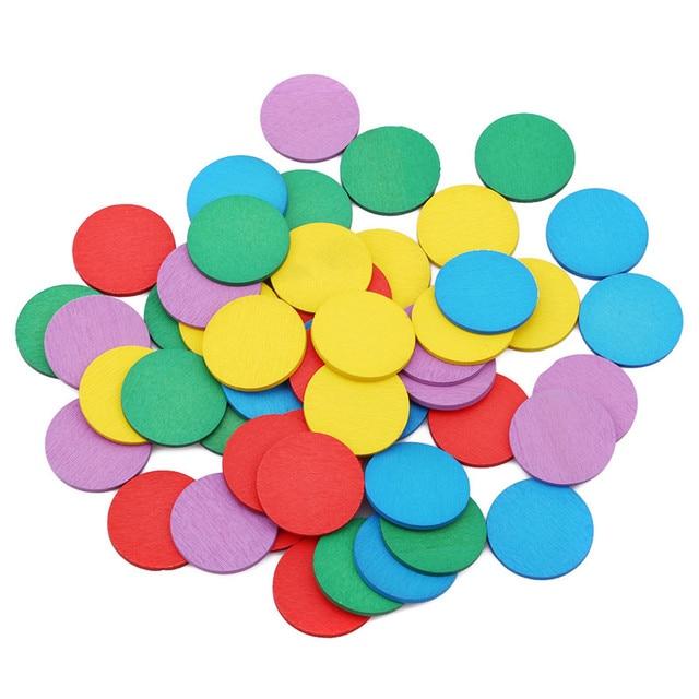 Nuevos juguetes educativos Montessori, juguetes de madera de Color Circular para niños, figuras de matemáticas, madera