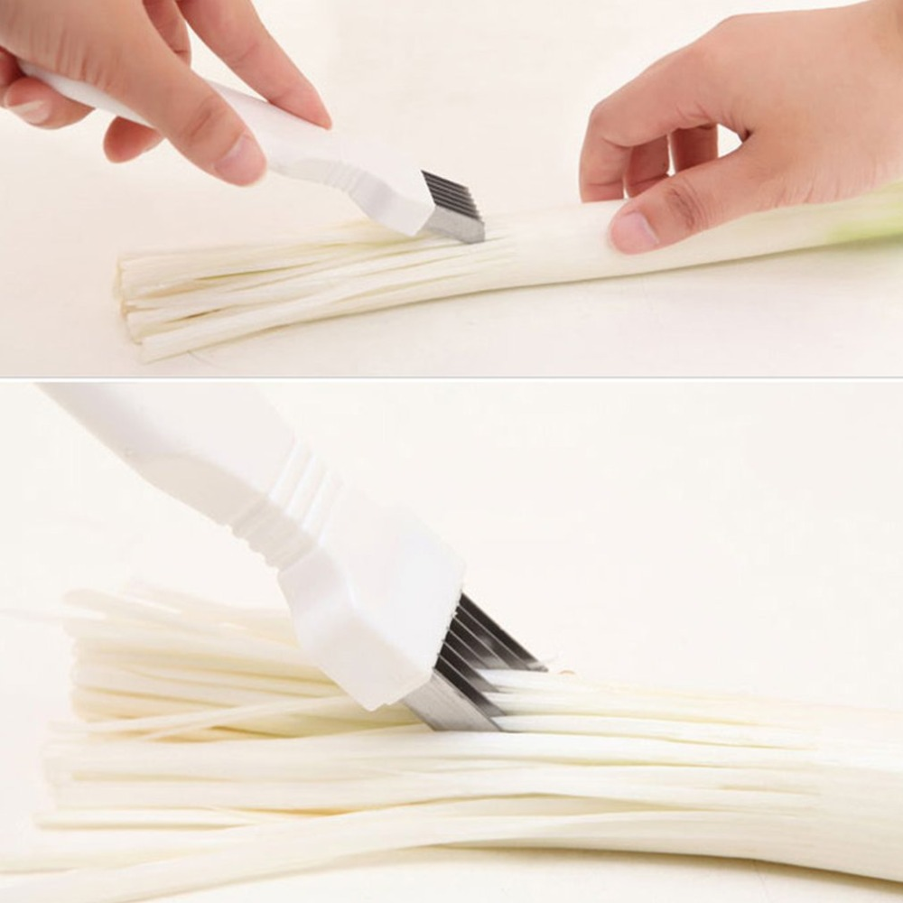 Ergonomic Green Onion Slicer Portable Vegetable Shredder Cutter Multifuntion Onion Chopper Durable Kitchen Tool Dropshipping