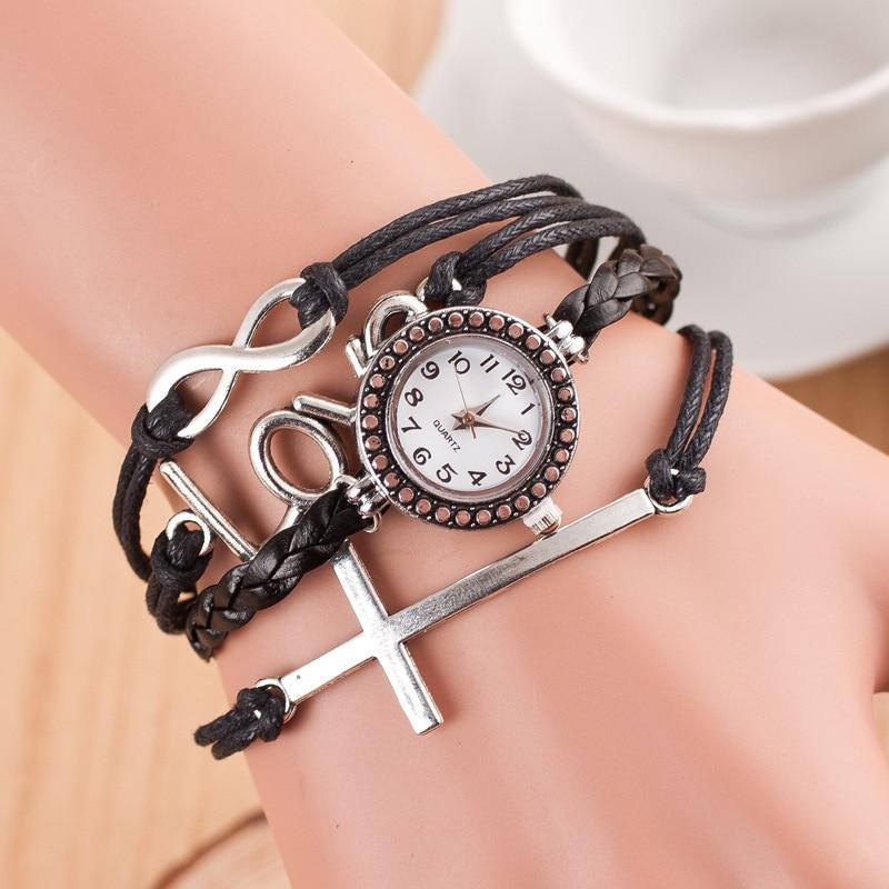 relojes mujer 2019 antique Jewelry bracelet watch women fashion casual leather wrist watches for women quartz watch ladies clock