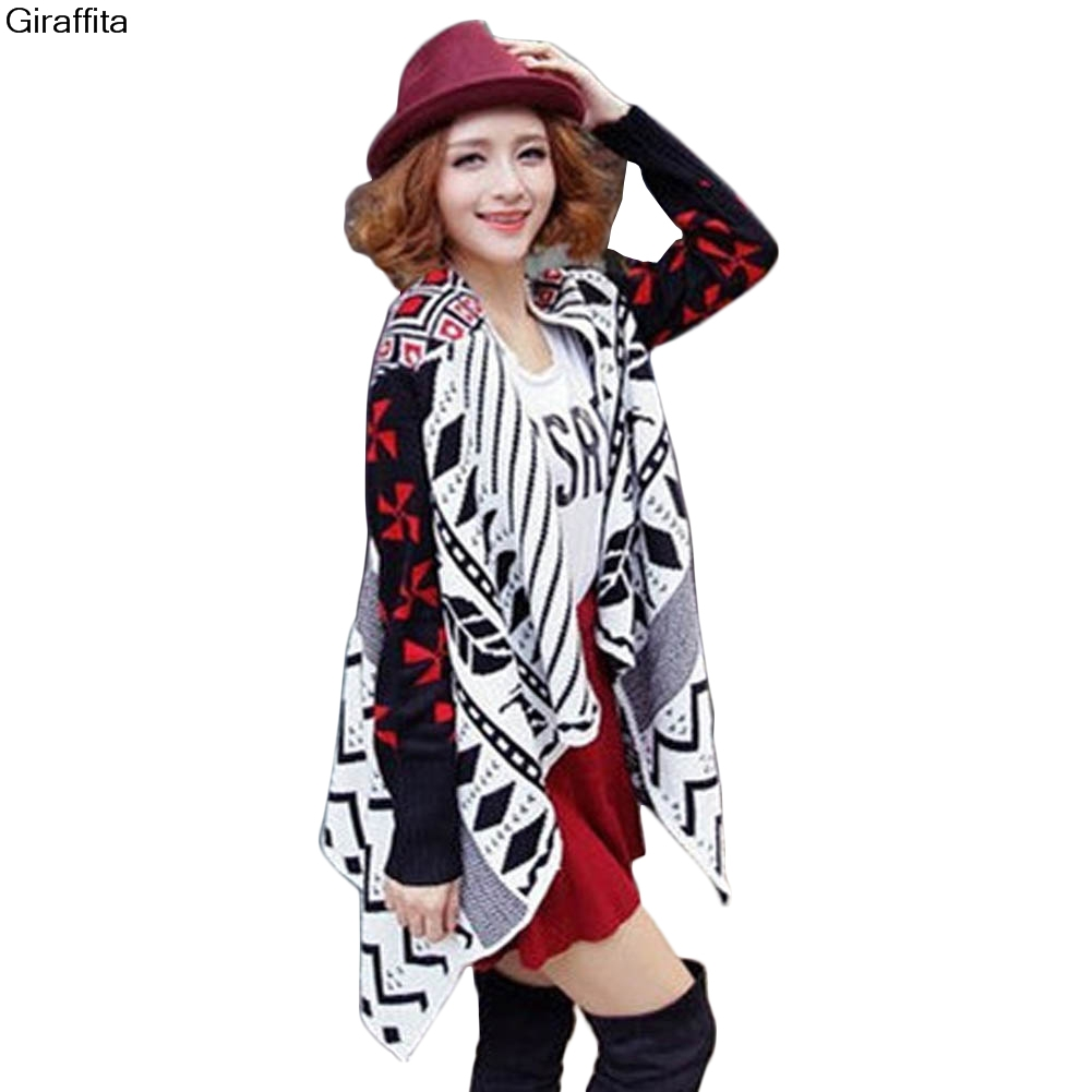 Fashion Pattern Cardigans Female Sweaters Long Sleeve Knitted Slim Women Sweater Cardigan ...