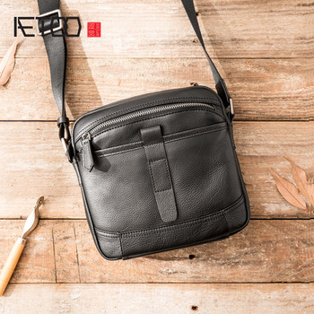 AETOO New leather shoulder bag difference bag male casual retro men's first layer cowhide soft leather diagonal small bag vintag