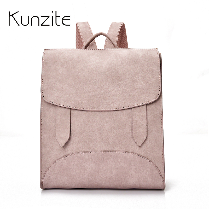 Kunzite New Women Backpacks for Teenage Girls School Backpack Solid Color Rucksack Female Travel Shoulder Bag Mochilas Sac A Dos dida bear brand women pu leather backpacks female school bags for girls teenagers small backpack rucksack mochilas sac a dos