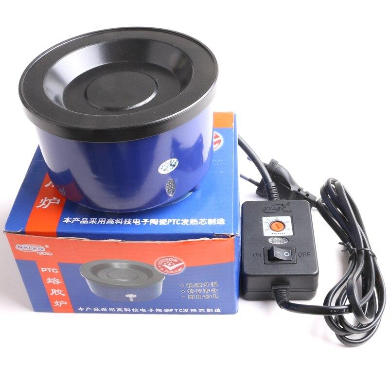 HARMONY 1 Piece Adjustable Temperature Hot Melt Glue Pot Glue Stove for Melting Glue Grains Heated Up Bowl for Keratin Granule ...