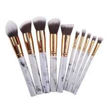 1/4/10pcs Professional Women Marble Brushes Makeup Tool Kit Soft  Foundation Powder Brush Make Up Tools set H0057