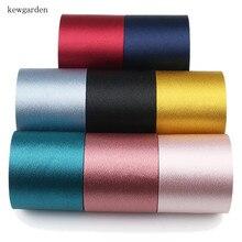 Сад 50 мм 5 см яркие шелковые атласные ленты ручной ленты DIY аксессуары бантом хлопок Riband 3 м/лот
