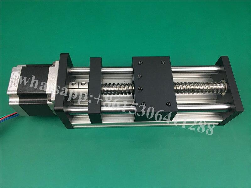 GGP 1605 300mm Ball Screw Slide Rail Linear Guide Moving Table Slip-way+ 1Pcs Nema 23 motor 57 Stepper Motor toothed belt drive motorized stepper motor precision guide rail manufacturer guideway