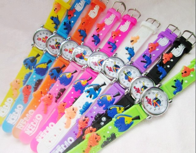 10pcs Finding Nemo Watch,3D Cartoon Quartz children good gift for kids Y10258