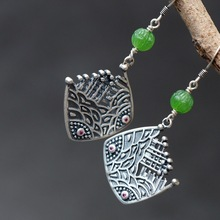цена 2019 silver fashion jewelry handmade with natural Natural stone s925 sterling silver Women's Thai silver earrings онлайн в 2017 году