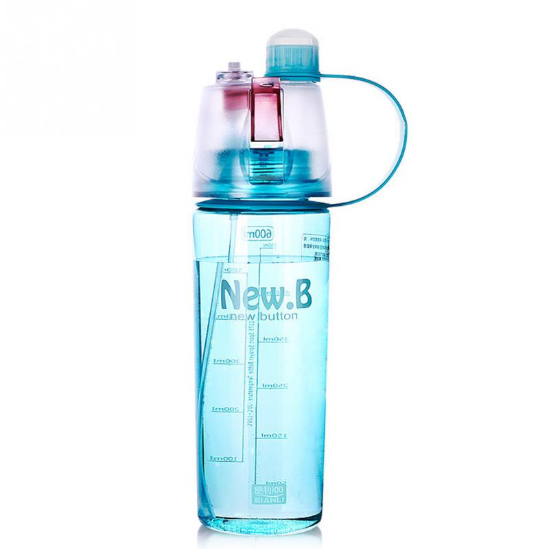 Water Bottle Uses: New Design 600ML 400ML Sports Spray Water Bottle Dual Use