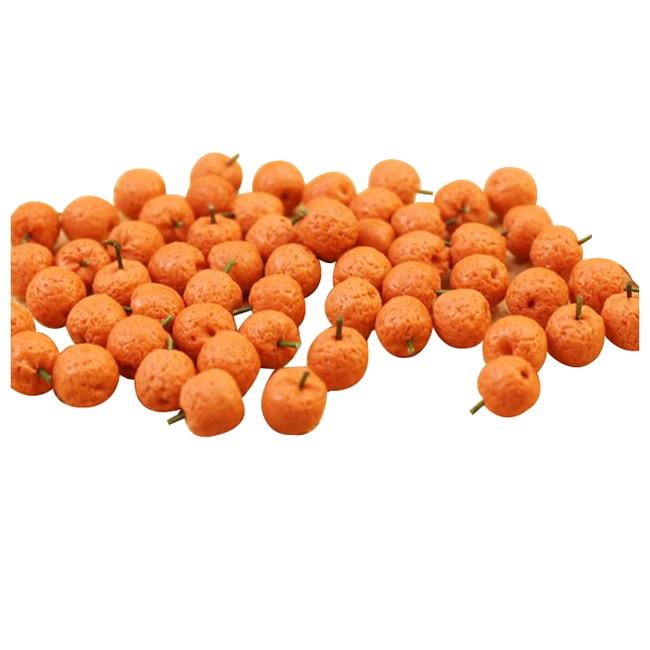 10pcs Dollhouse Miniature Model Simulation Fake Fruit Kitchen Decor Gift 1/12 Orange
