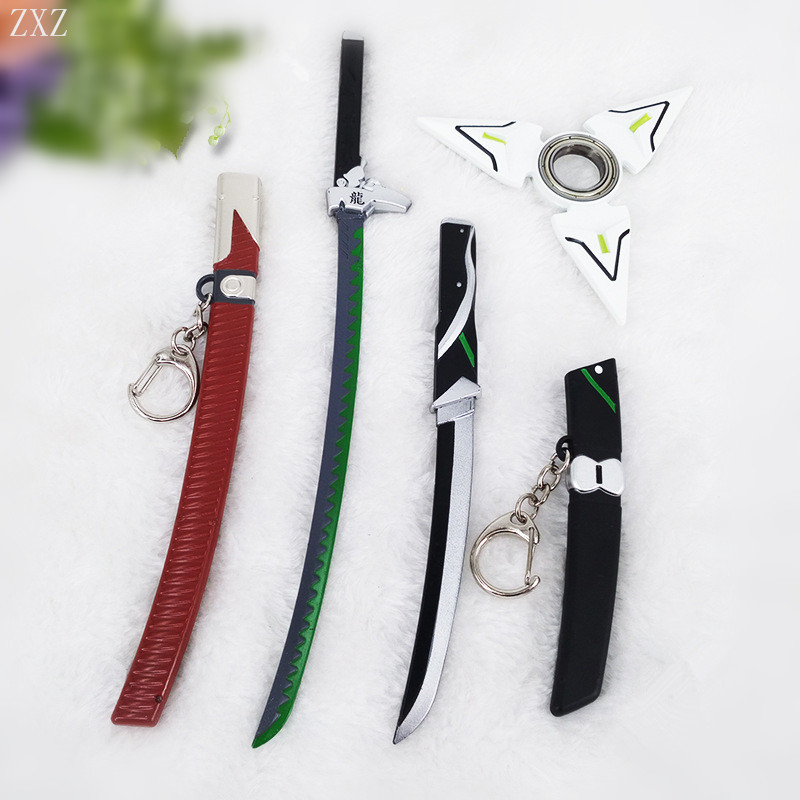 ZXZ genji action figure toys ninja darts weapons Toy metal EDC Fidget toys Autism and ADHD Increase Focus OW LOL Ninja cosplay cool game genji darts alloy metal weapon rotatable darts cosplay props for collection fidget spinner hand anti stress kf028