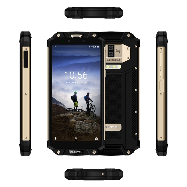 OUKITEL WP2 MT6750T Octa Core Mobile Phone 4GB 64GB 6.0″ 18:9 10000mAh Cell Phone IP68 Waterproof Dust Shock Proof 4G Smartphone