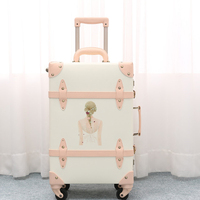 2018 Новый поездки багаж крышки чемодана hardside багажа счетчик катящимся с принтом для девочек чемодан из натуральной кожи пользовательские ка
