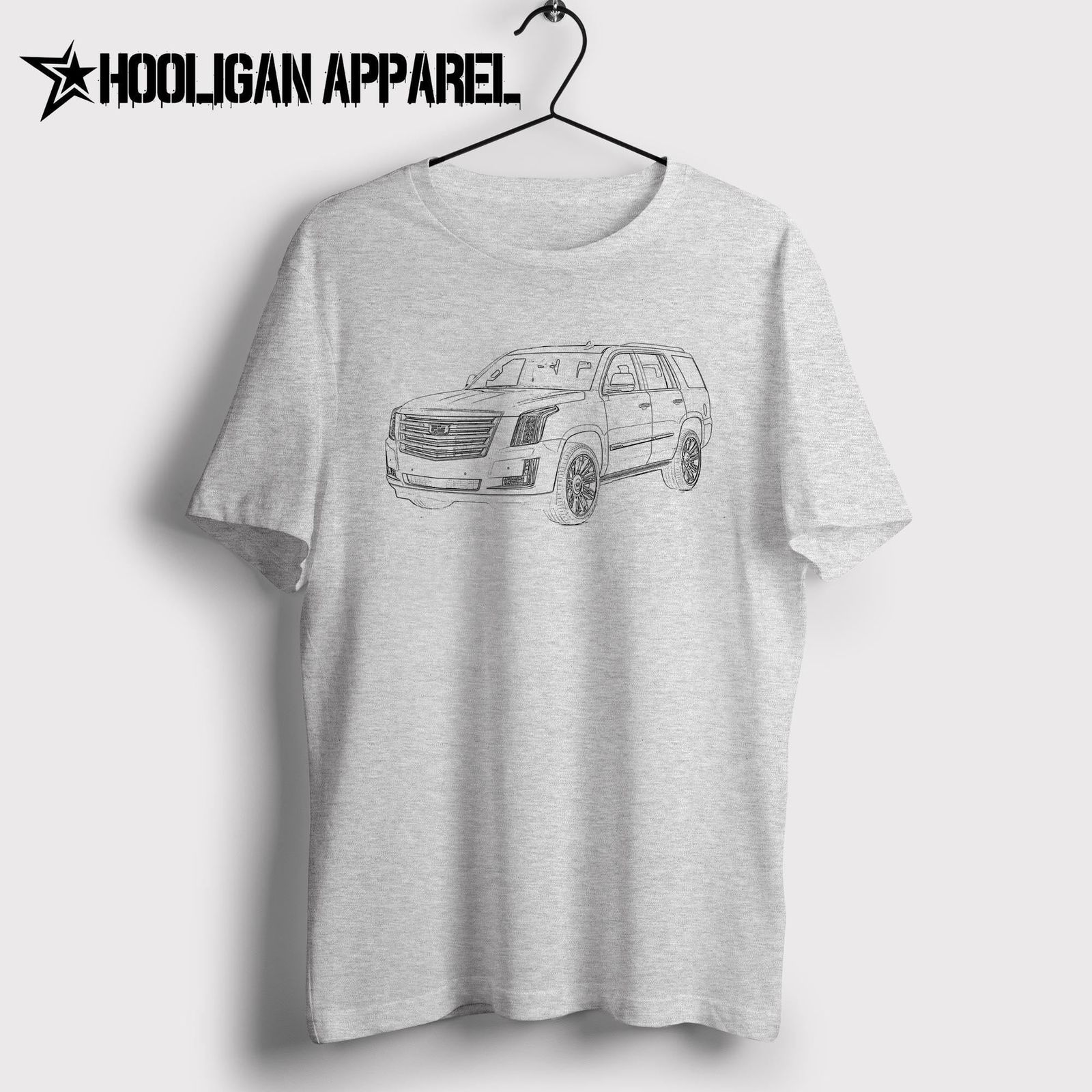 New Summer Fashion Simple Short-Sleeved Cotton T-Shirt Classic American Car Fans Escalade Suv 2016 Inspired Car Bulk T Shirts image