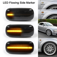 New 1 Pair LED Flowing Side Light Indicators 18 SMD Dynamic for Audi A3 S3 A4 S4 A6 S6
