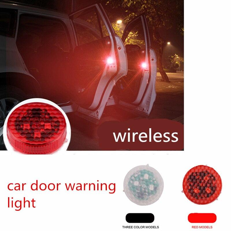 BRIDAY 2шт беспроводной светодиодный двери автомобиля сигнальная лампа открыли магнит декоративный индикатор безопасности избежать аварии строб вспышка света сигнала