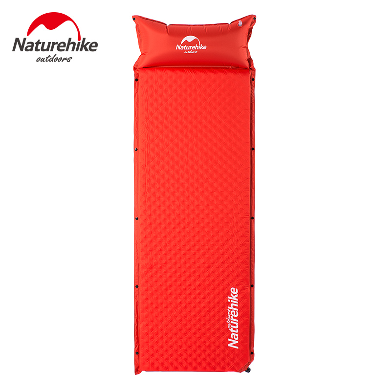 ФОТО NatureHike Camping Mat 1 Person Automatic Inflatable Cushion Moistureproof Tent Mat Splicing Air mattresses
