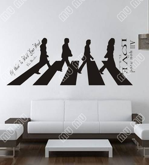 All You Need Is Love The Beatles Large Wall Decal Sticker Home Decoration Decor Art Size 150CM55CM Black