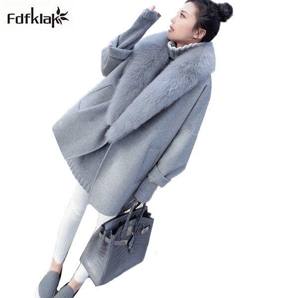 907382eaf2eff Mode manteaux 2018 femmes d hiver manteau long femmes hiver veste lâche  marque de cachemire