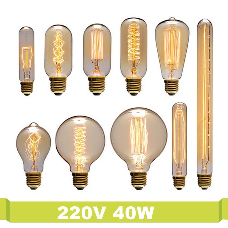 T.Y.S Ampoule Vintage Lamparas E27 220v For Decor St64 Luminaria Decorativa E27 Indoor Decoration Light Bulbs Retro Edison Lamp