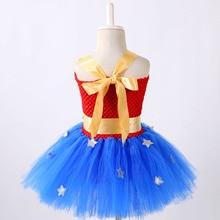 1 Set Wonder Woman Girl Tutu Dress Brave Super Girls Superhero Hero Theme Birthday Party Dresses Halloween Costume For Kids