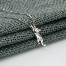 925 Sterling Silver Necklaces with Cat for Women