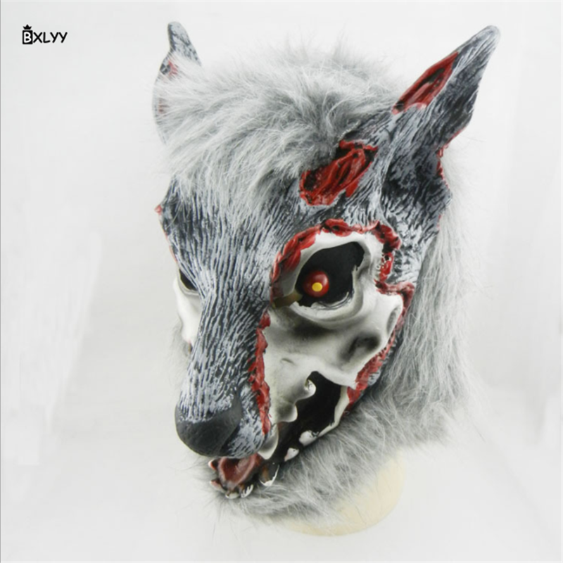 BXLYY 2018 Hot Eco Latex Animal Mask Halloween Decoration DIY Halloween Christmas Carnival Mask Masquerade Party Supplies 1pc.7z