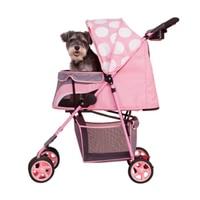 Pet Supplies Fashion Beautiful High Quality Pet Dog Cart Cat Teddy Dog Small Medium Pet Four Wheel Cart One click Folding