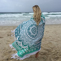 Round Mandala Beach Towel Tassel Fringing Throw Mat Table Cloth Wall Tapestries Free shipping