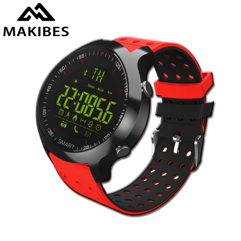 Makibes EX18C Sports Watch 5ATM waterproof rate Call notification Smart Watch Bluethooth 4.0 Remote control Alarm Clock Watch цена