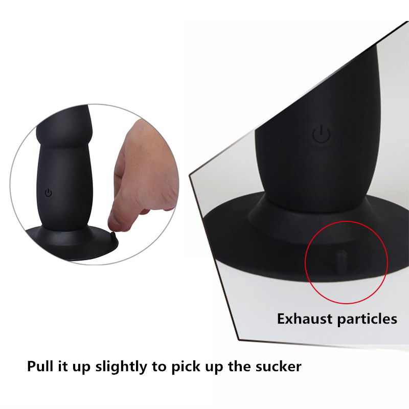 10 Speed Anal Vibrator for Men Realistic Penis Dildo Vibrator Butt Plug USB Suction Male Prostate Massager Sex Toys for Woman