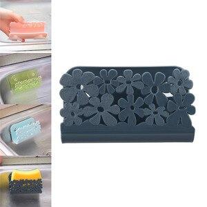 Kitchen Storage Rack Holders Dish Cloths Rack Suction Sponge Holder Clip Rag Storage Rack Shelf Towel Soap Wall Mounted Nov#3(China)