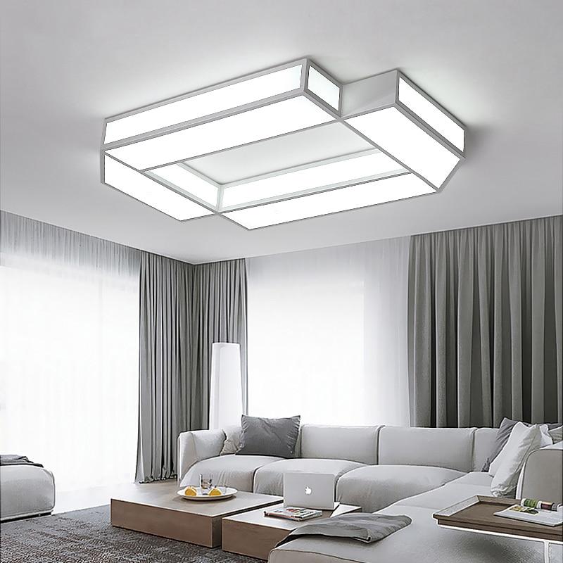 купить Rectangle LED Ceiling Lights For Living Room Bedroom AC85~265V lampara de techo Modern Ceiling Lamp Home Decor Lighting Fixtures по цене 5297.97 рублей