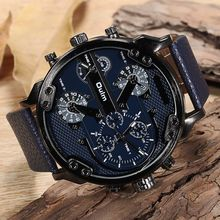 Oulm Watch Men Big Dial Man Hours Casual Leather Band Military Watch Quartz Male Dress Watch