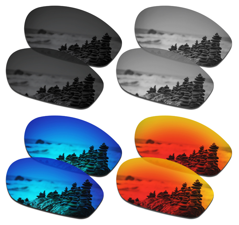 SmartVLT 4 Pairs Polarized Sunglasses Replacement Lenses for Oakley Encounter - 4 Colors