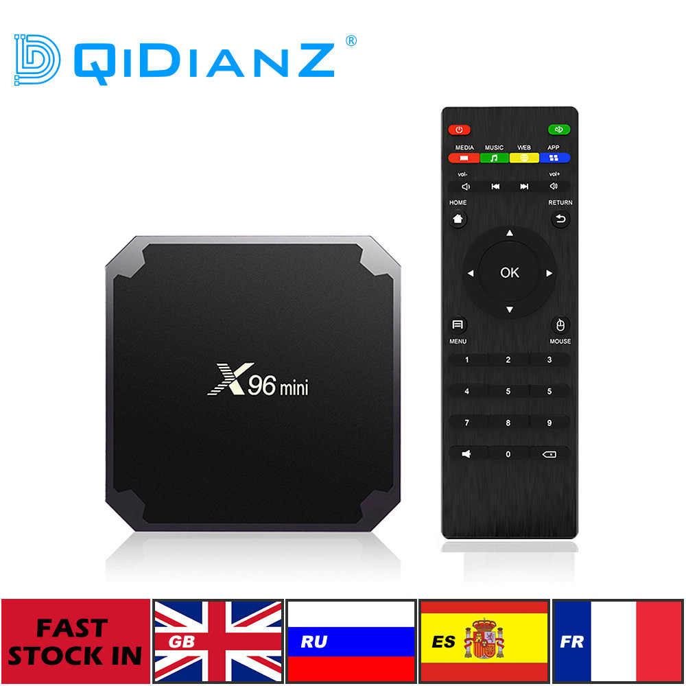 (MRW:100% entrega 24-48 horas en dias laborales)Original X96mini Android 9.0 X96 mini Smart TV BOX TV Caja Inteligente 4K*2K Quad Core Amlogic S905W compatible con 2.4WIFI+IR Cable