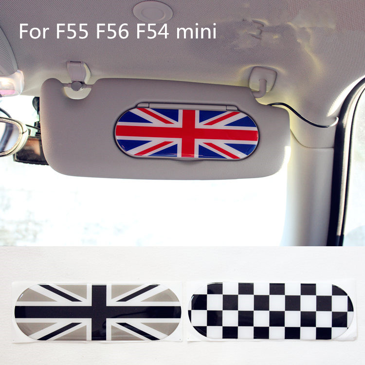 3d rubber black union jack car interior mirror accessories for bmw mini cooper f55 f54 f56 on. Black Bedroom Furniture Sets. Home Design Ideas