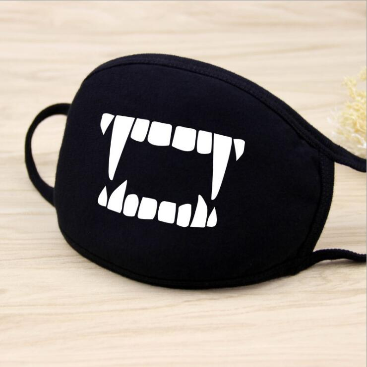 Apparel Accessories Unisex Personality Black Face Mask Outdoor Print Mouth Mask Anti Haze Dust Masks Filter Windproof Mouth-muffle Bacteria 7c1015 Soft And Antislippery