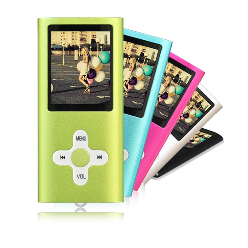 New Button Insert TF Card MP3 Player 5 Colors Slim 1.8 Inch LCD Media Video Game Movie Radio FM Long Playing Time
