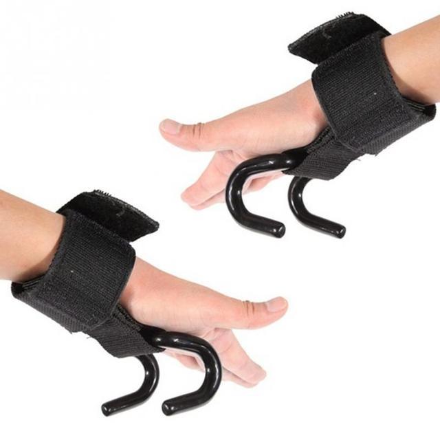 Adjustable Steel Hook Weight Lifting Glove